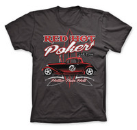 Hotter Than Hell Red Hot Poker Car Club Hotrod Men T-Shirt (D.Grey)