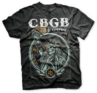 OMFUG Statue of Underground Rock CBGB Men T-Shirt (Black)