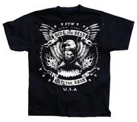 Ride the Best, Eat the Rest Hotrod Piston U.S.A Men T-Shirt (Black)