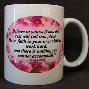 "Cup of Wisdom Candle - ""Believe in Yourself..."""
