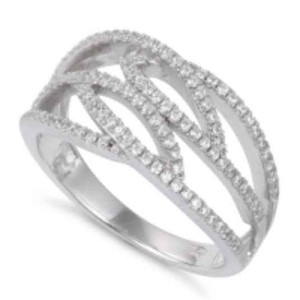 Sterling Silver Elegant CZ Ring