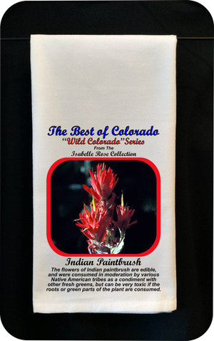 Colorado Flower Tea Towel - Indian Paintbrush