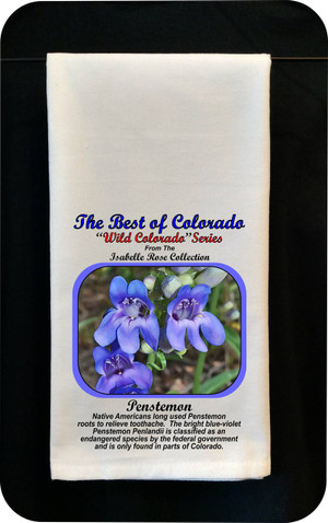 Colorado Flower Tea Towel - Penstermon