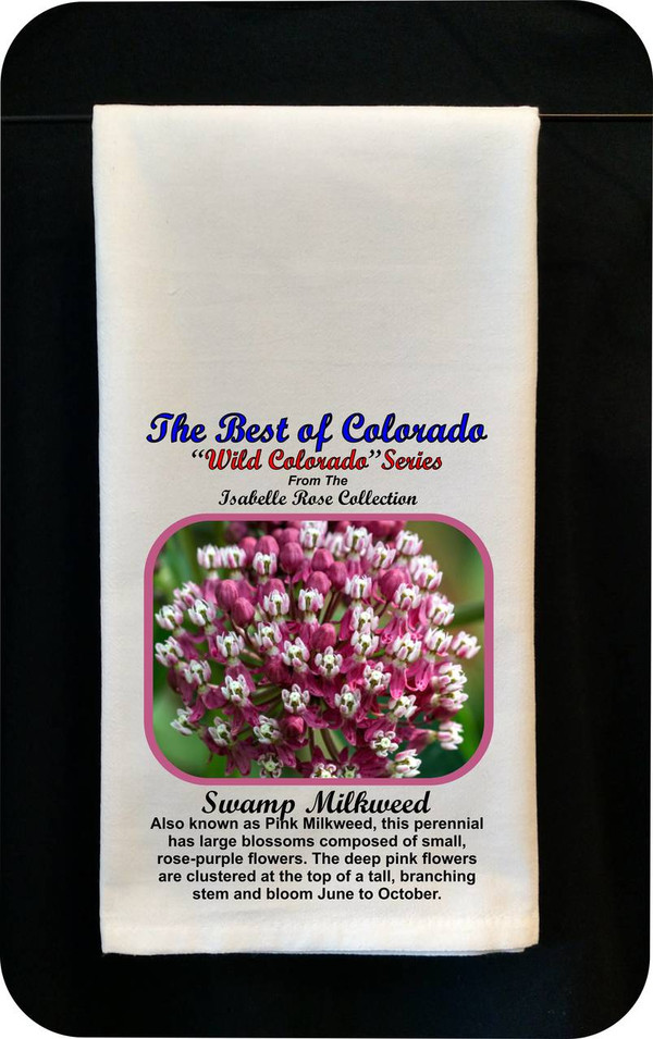 Colorado Flower Tea Towel -Swamp Milkweed