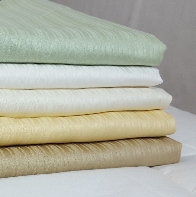 Organic Cotton Damask Stripe Sheet Sets
