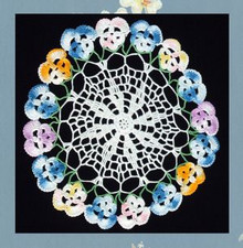 Pansy inspired round doily