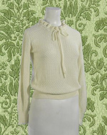 Lacy ivory knit sweater