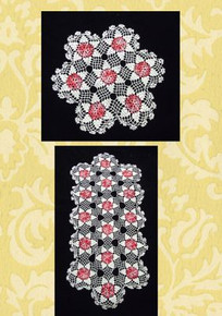 Multi pinks/white doily set
