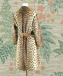 1960s faux leopard coat