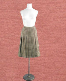 1940s wool houndstooth check skirt