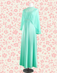 Aqua Harlow-esque night gown