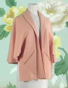 1950s Blush pink wool wrap