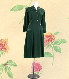 Sophisticated 1940s day dress