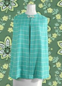 1970s aqua blue cape