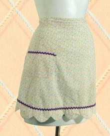 Dainty cotton print apron