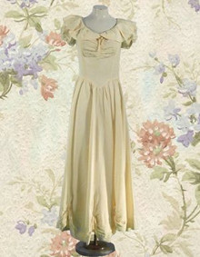 Delicate satin gown from the 1930s