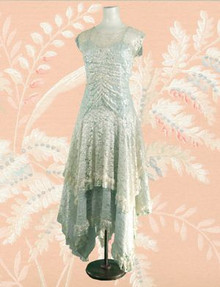 Satin and lace hankerchief dress