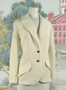Antique white seersucker jacket