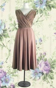 Exquisite velvet & taffeta designer dress
