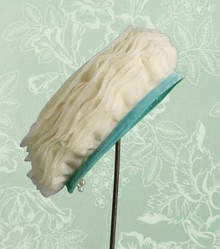 1950s Organdy and velvet hat