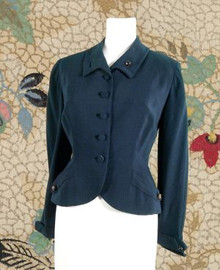 1940s exquisite wool navy jacket
