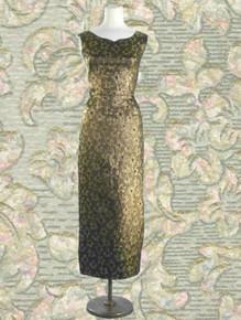 Gold & black metallic cocktail dress