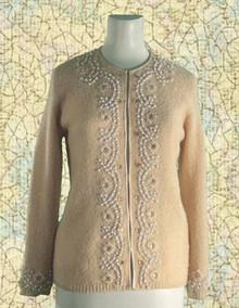 1960s Beaded cardigan sweater