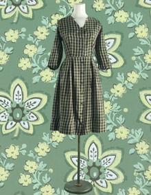 1950s Plaid day dress