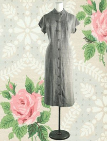 1930s Unique day dress with back draping