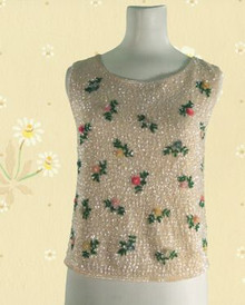 1960s Sequined wool tank top