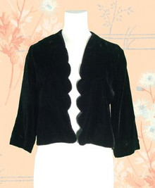 1960s Silk velvet evening bolero
