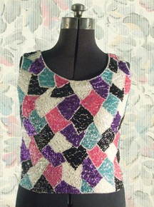 1960s Wool sequined tank top