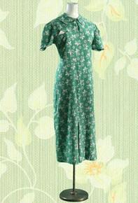 1930s Cotton print day dress