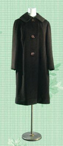 1960s Deep espresso wool coat