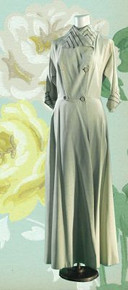 1940s Vintage hostess gown
