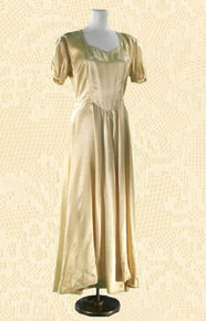 1930s Champagne satin evening gown