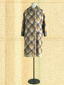 1960s Heavy silk embroidered coat