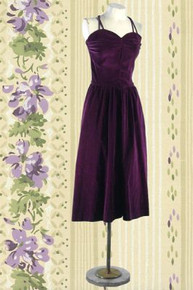1940s Deep purple cocktail dress