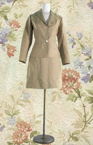1940s Heavy linen tailored skirt suit