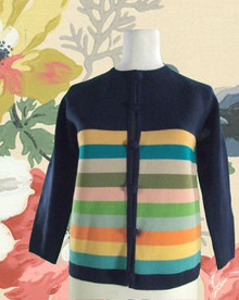 1960s Mod Multi Colored Sweater Jacket