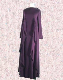 Elegant 70s maxi dress with a Medieval twist
