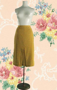 1950s pencil skirt with starburst print