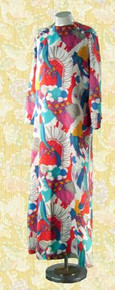 Late 60's Peter-Max-inspired maxi dress.