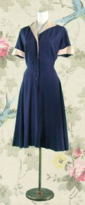 1940's button-front day dress
