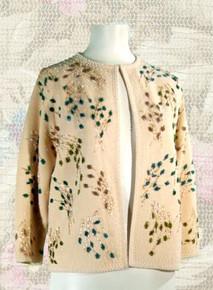 1960's Beaded sweater - wool