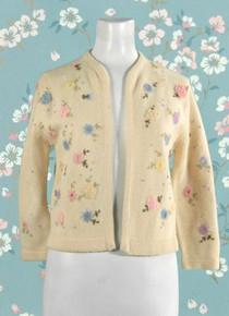 1950s beige lambswool cardigan
