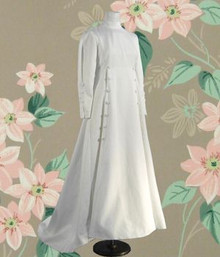 Exquisite white 1970 Bianchi wedding gown