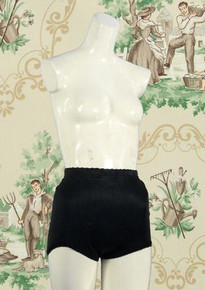 Black 1960s lycra panties