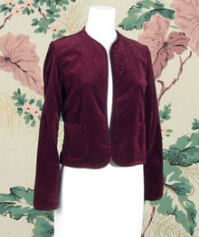 Cotton velvet burgundy jacket