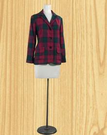 Classic 1960s wool plaid jacket